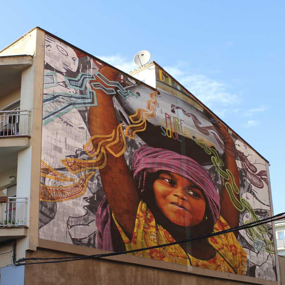 Mural ideat pel previ festival monarT Girona