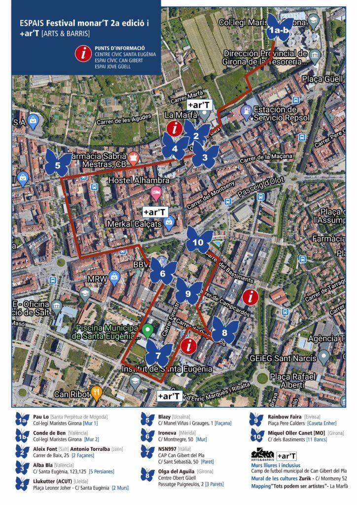 mapa Festival monar'T #2a EDICIO